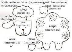 craft, sheep pattern, patron, mold, templat, lamb, fieltro, ovelha, feltro