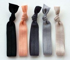 finally. hair ties that make pretty bracelets.