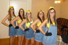 Minion costume @Kristina Kilmer Stamper @Ashley Walters Abraham we gotta do this for Halloween this year!
