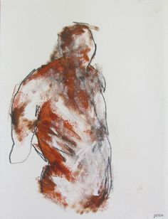 figure drawing - from life - Drawing 64 - pastel and graphite on paper - original drawing by Derek Overfield