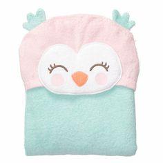 Owl Hooded Towel-Toddler