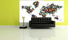 Studio Map Mural - Colorblock