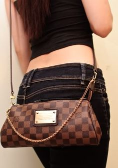 Louis Vuitton Damier Ebene Eva clutch