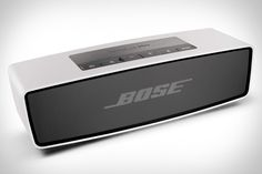 Bose SoundLink Mini ($200) This palm-sized speaker is small at 2x7 inches, but packs the kind of sound you'd expect from Bose. It connects wirelessly to any bluetooth-capable device with a wireless range up to 30 feet and seven hours of battery life.