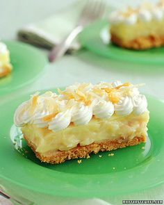 Coconut Cream Bars.