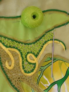 freeform design : crochet + fabric (photo tutorial)