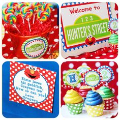Elmo Party - Birthday - Inspired by Sesame Street -  PRINTABLE Party Set by Amanda's Parties To Go. $29.00, via Etsy.