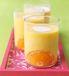 Orange Freeze - Milk and orange juice concentrate create this cool drink, which makes a refreshing snack on a summer day.