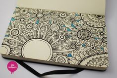 Moleskine illustration #10: Floral. by Major Lazor, via Flickr