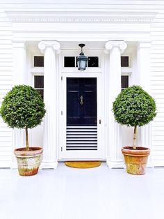 striped front door