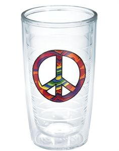 Peace Sign tumbler - the hippie in me loves this!