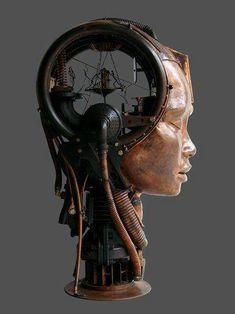 Organic and Mechanical Hybrid Sculptures by Pierre Matter http://pierrematter.com/