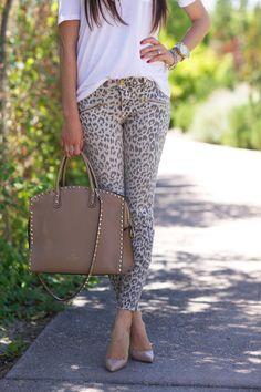 Need these leopard print jeans via pinkpeonies
