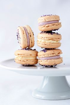 Violet Macarons with Vanilla Bean Buttercream