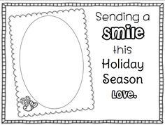 Simple activity where you can have your kids send their smiles to someone in need this holiday season.  I will send mine to Sandy Hook, but they could be sent to shelters, hospitals, nursing homes, etc.   Creekside Teacher Tales