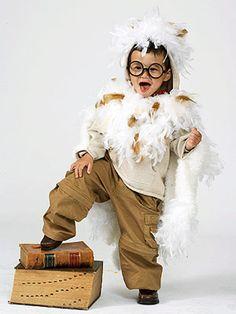 Harry Potter inspired owl costume kids