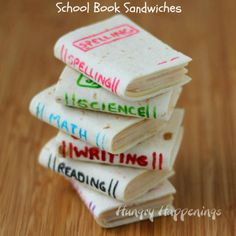 School Book Sandwiches  