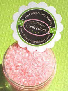 Pink edible glitter : )
