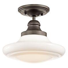 Keller Olde Bronze Semi Flush Light Kichler Semi Flush Flush & Semi Flush Lighting Ceiling