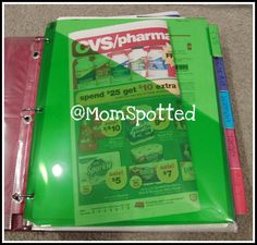 Organize Your Shopping Trips - coupon binder by store