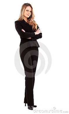 image photo : Confident business woman standing