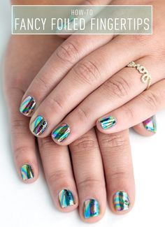 Nail Art How-To: Fancy Foiled Fingertips - This foil mani is easier than it looks.