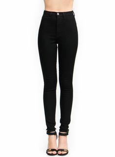 High waisted black pants <3