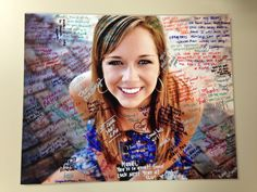 Senior photo idea: Have a large print made on matte board & have friends sign it at the graduation party!