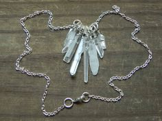 crystal point necklace crystal necklace rock by AdrianaSoto, $40.00