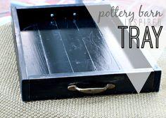DIY Pottery Barn inspired tray! So easy+inexpensive.