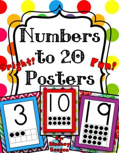 Numbers Posters with tens frames