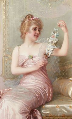 vittorio matteo corcos | The plaything (1897)