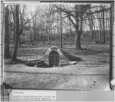 Two views of Spangler Springs on the Gettysburg Battle Field