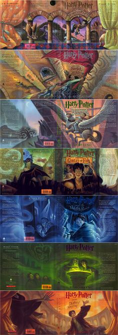harry potter open book covers