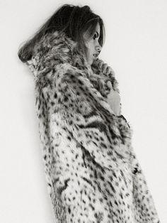 the huntress | style | fashion editorial | safari | hunt | fur | black & white |