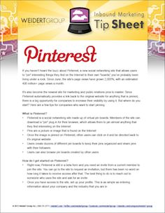 Free How-to Guide to Get Your Business Started on Pinterest via @WeidertGroup