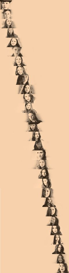 A photo of Amy from each episode, beginning to end. Sigh. I miss you, Pond.