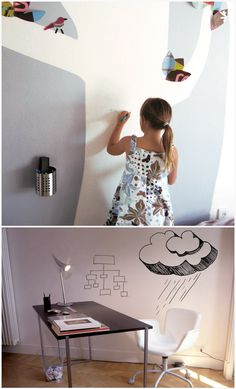Idea Paint is specially-engineered paint that turns any smooth surface into a dry erase board.
