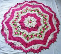 """Crochet: """"alfombra de Su Casa"""" - maomao - Me muevo el los pasteles"""