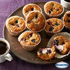 Sweeten up your morning commute with these delicious Wild Berry-Oatmeal Cheesecake Muffins! The combination of wild berries, brown sugar and Philadelphia Cream Cheese makes them both sweet and tart.