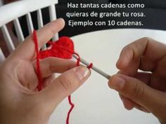 Cómo tejer una rosa en crochet (ganchillo)