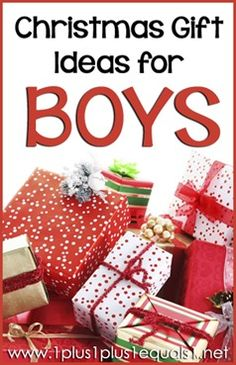 Christmas Gift Ideas for BOYS from @{1plus1plus1} Carisa