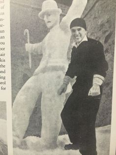 Chaplin and a SnowCharlie, 1932.