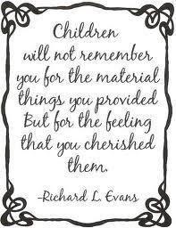 Children will not remember