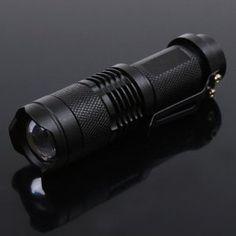 7w 300lm Mini Cree Led Flashlight Torch Adjustable Focus Zoom Light Lamp