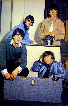music, george harrison, trunk, paul mccartney, blue
