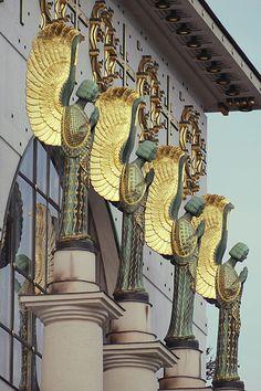 Othmar Schimkowitz angel at Otto Wagner church | JV