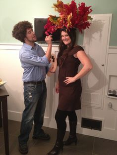 """Happy Little Tree"" Couples Halloween Costume Idea"