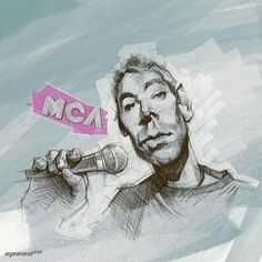 Rest in peace, Adam Yauch, Beastie Boy... thanks for the the decades of great tunes.  (Artwork credit:  http://www.danestorrusten.com/work/mca/)