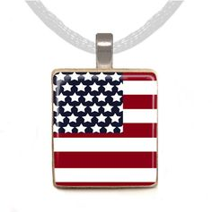 Scrabble Pendant  4th of July FLAG by peachypendants on Etsy, $6.00